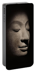 Buddha Head From The Early Ayutthaya Period Portable Battery Charger