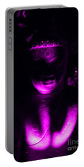 Portable Battery Charger featuring the photograph Buddha Reflecting Purple by Linda Prewer