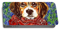 Buddy Dog Beagle Puppy Western Wildflowers Basset Hound  Portable Battery Charger