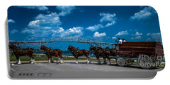 Budweiser Clydsdales And Blue Water Bridges Portable Battery Charger