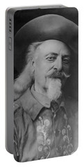 Portable Battery Charger featuring the photograph Buffalo Bill Cody by Charles Beeler