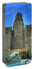 Buffalo City Hall Portable Battery Charger by Tammy Wetzel