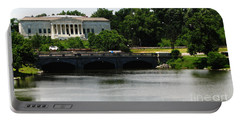 Buffalo History Museum And Delaware Park Hoyt Lake Oil Painting Effect. Portable Battery Charger