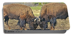Buffaloes At Play Portable Battery Charger
