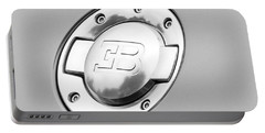 Portable Battery Charger featuring the photograph Bugatti Fuel Cap by Matt Malloy