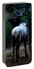 Bull Elk In Moonlight  Portable Battery Charger