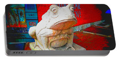 Portable Battery Charger featuring the photograph Bull Frog Painted by Kelly Awad