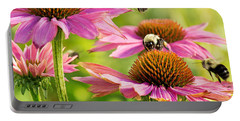 Bumbling Bees Portable Battery Charger by Bill Pevlor
