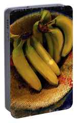 Portable Battery Charger featuring the painting Bunch Of Bananas by Joan Reese