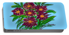 Portable Battery Charger featuring the digital art Bunch Of Daisies by Christine Fournier