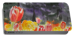 Bunch Of Tulips I Portable Battery Charger