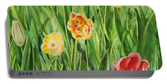 Bunch Of Tulips II Portable Battery Charger