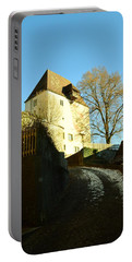 Portable Battery Charger featuring the photograph Burgdorf Castle In December by Felicia Tica