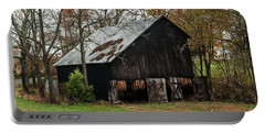 Portable Battery Charger featuring the photograph Burley Tobacco  Barn by Debbie Green