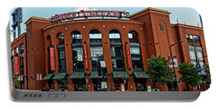 Busch Stadium Home Of The St Louis Cardinals Portable Battery Charger by Greg Kluempers