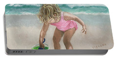 Busy Beach Girl Portable Battery Charger