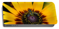 Portable Battery Charger featuring the photograph Busy Bee by Denyse Duhaime