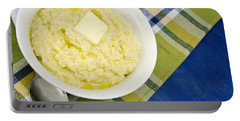 Cheese Grits With A Pat Of Butter Portable Battery Charger by Vizual Studio