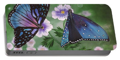 Portable Battery Charger featuring the painting Butterfly #2 by Dianna Lewis