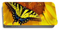 Butterfly And The Sunflower Portable Battery Charger