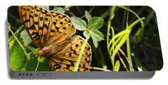 Butterfly At Signal Mountain Portable Battery Charger by Belinda Greb