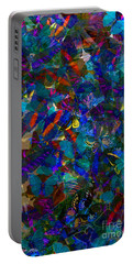 Portable Battery Charger featuring the photograph Butterfly Collage Blue by Robert Meanor