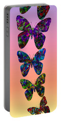 Portable Battery Charger featuring the photograph Butterfly Collage IIII by Robert Meanor