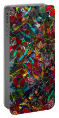 Portable Battery Charger featuring the photograph Butterfly Collage Red by Robert Meanor