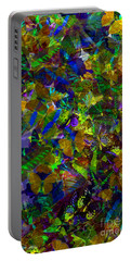 Portable Battery Charger featuring the photograph Butterfly Collage Yellow by Robert Meanor