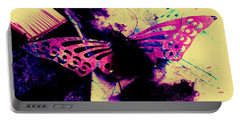 Portable Battery Charger featuring the photograph Butterfly Disintegration  by Jessica Shelton