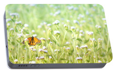Portable Battery Charger featuring the photograph Butterfly Dreams by Holly Kempe