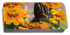 Butterfly In Living Color Portable Battery Charger by Greg Graham