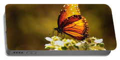 Butterfly In Sun Portable Battery Charger