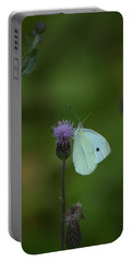 Butterfly In White 2 Portable Battery Charger