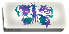 Portable Battery Charger featuring the painting Butterfly Inkblot by Frank Bright