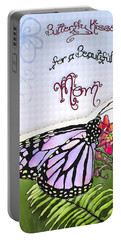 Butterfly Kisses Portable Battery Charger by Susan Kinney