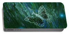 Butterfly Magic By Jrr Portable Battery Charger by First Star Art