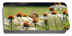 Butterfly On Echinacea Portable Battery Charger
