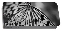 Butterfly On Pink Flowers Portable Battery Charger