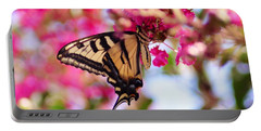 Butterfly On The Crepe Myrtle. Portable Battery Charger