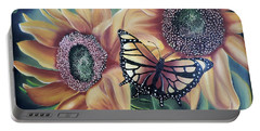 Portable Battery Charger featuring the painting Butterfly Series 5 by Dianna Lewis