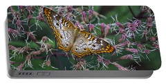 Portable Battery Charger featuring the photograph Butterfly Soft Landing by Thomas Woolworth