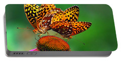 Portable Battery Charger featuring the photograph Butterfly Twins by Christina Rollo
