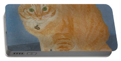 Butterscotch The Cat Portable Battery Charger by Mini Arora