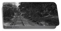 Bw Railroad Track To Somewhere Portable Battery Charger