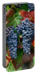 5b6374-cabernet Sauvignon Grapes At Harvest Portable Battery Charger