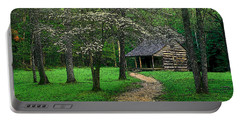 Portable Battery Charger featuring the photograph Cabin In Cades Cove by Rodney Lee Williams