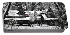 Portable Battery Charger featuring the photograph Cabin In The Woods by Deborah Klubertanz