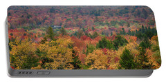 Cabin In Vermont Fall Colors Portable Battery Charger