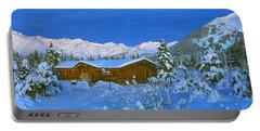 Cabin Mount Alyeska, Alaska, Usa Portable Battery Charger